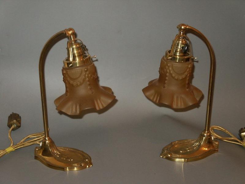 Antike Jugendstil Tischlampen TA-35