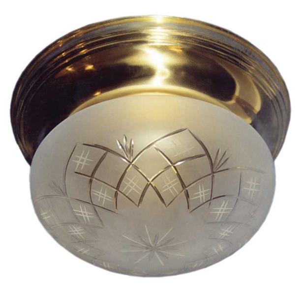 Jugendstil Deckenlampe mit Glaskugel D-37