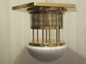 Jugendstil Deckenlampe mit Glas D-39