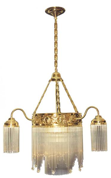 Jugendstil luster mit glasst bchen l04 for Jugendstil lampen