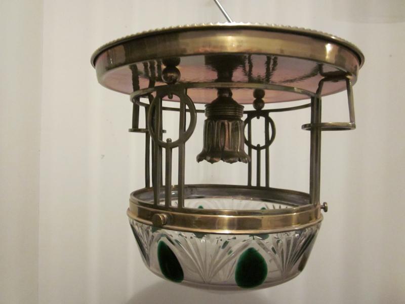 Antike jugendstil deckenlampe da 16 for Antike lampen