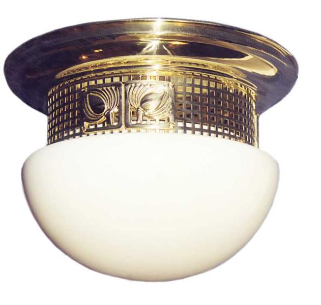 Jugendstil Deckenlampe mit Glas D-35